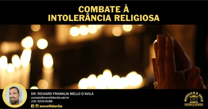 COMBATE À INTOLERÂNCIA RELIGIOSA