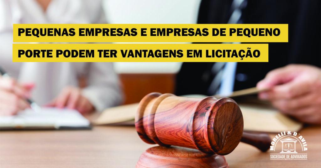 micro pequenas empresas licitações morelli davila advocacia campinas