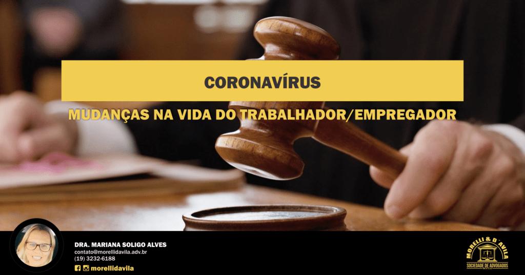coronavírus mudanças na vida do trabalhador/empregador